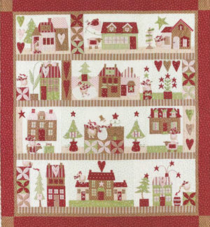 Mistletoe Lane Block of the Month Quilt pattern
