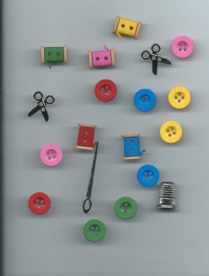 Modern sewing button selection