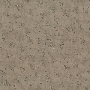 Needles & Pins -Mini Sprigs on Taupe fq
