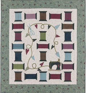 Scissors, Spools & Thread Quilt pattern