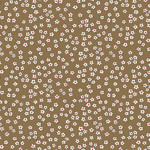 All in a Day - Small Flowers on Light Brown Fabric