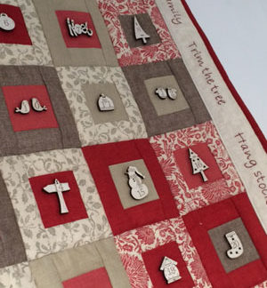 Advent Calendar Kit with French Hand-Painted Buttons