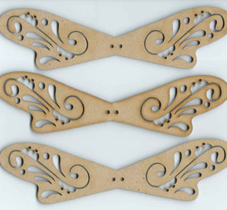 Wooden Angels Wings - 3 pairs