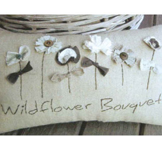 Wildflower Bouquet Cushion pattern
