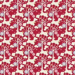 Tilda Candy Bloom - Wild Garden Red fat 1/4