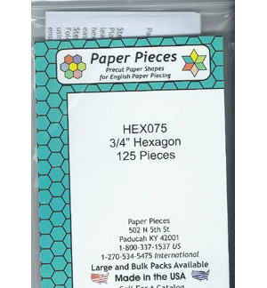 "3/4"" Hexagon Papers"