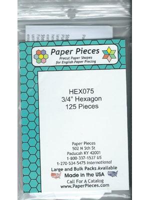 """3/4"""" Hexagon Papers"""