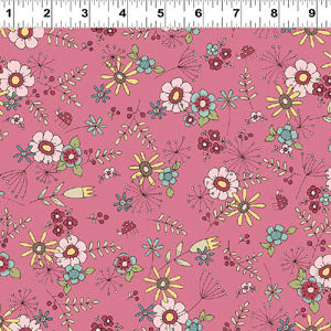 Heart & Home fabric - Dark Pink Flowers