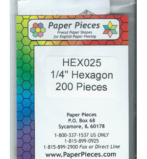"1/4"" Hexagon Papers"
