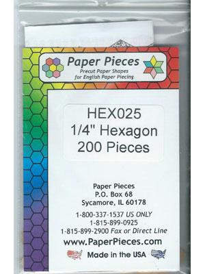 """1/4"""" Hexagon Papers"""