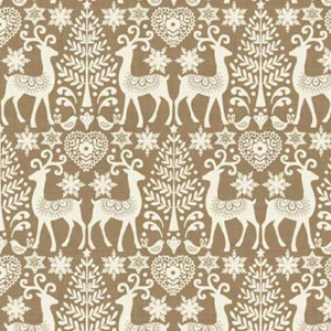 Scandi Reindeer Taupe fat 1/4