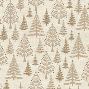 Scandi Trees on Cream Fat 1/4