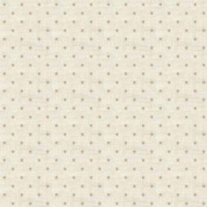 Scandi Stars Taupe on Cream fat 1/4