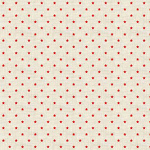 Scandi Red Stars on Cream fat 1/4