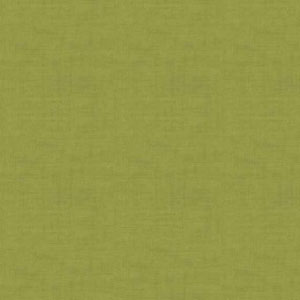 Dark Lime - Linen Texture fabric