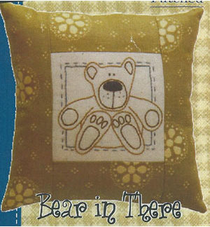 Bear in There stitchery pattern