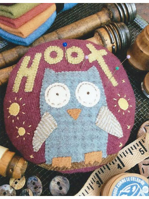 Hilda the Hoot Pincushion pattern