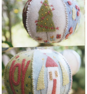 Joyful Xmas Bauble pattern