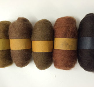 Wool Tops - 5 pack of Browns