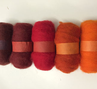 Wool Tops - 5 pack of oranges to reds