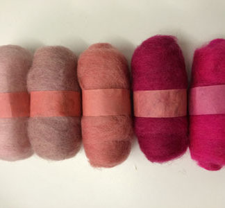 Wool Tops - 5 Pack of Pinks