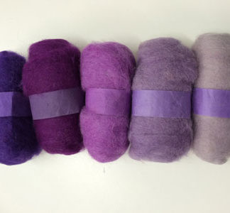 Wool Tops - 5 pack of Purples
