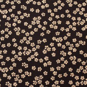 Japanese Textured Woven Fabric - Small Flowers on Indigo