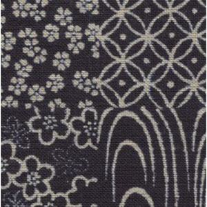 Japanese Textured Woven Fabric - Indigo Patchwork
