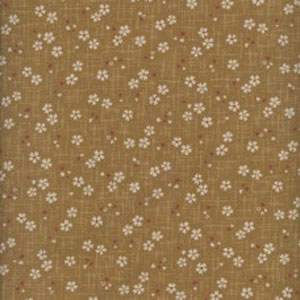 Japanese Print Fabric - Small Flower Mustard