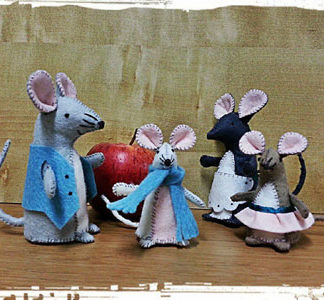 Mouse Family Felt Kit