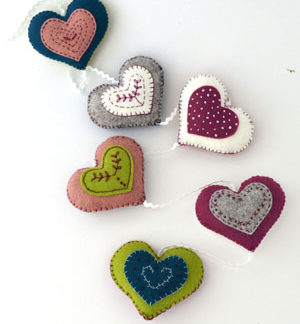 Vintage Heart Garland Kit