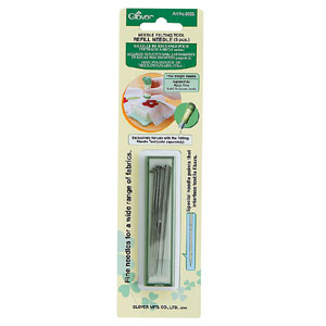 Clover Fine Needle Felting Tool Refill, Pack of 5