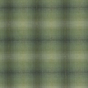 Yarn Dyed - Shaded Green Check Fat 1/4