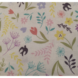Lewis & Irene Salisbury Spring - Flowers on White fat 1/4