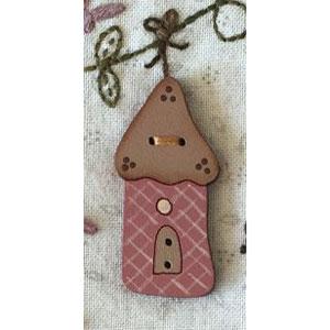 Songbird Birdhouse Button