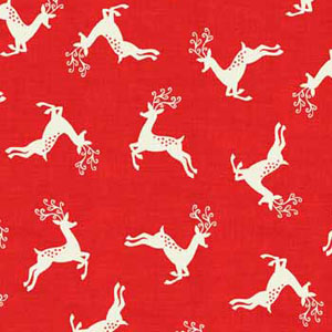 Scandi Deer Scatter Red fat 1/4