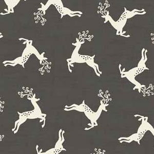 Scandi Deer Scatter Slate fat 1/4