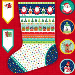 Large Christmas Stocking panel