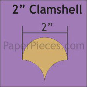 "2"" Clamshell papers pack of 68"