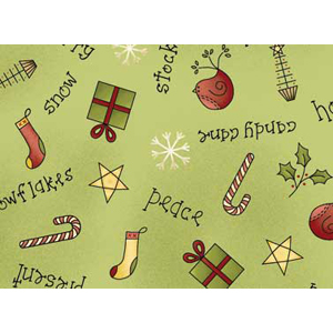 All Things Christmas - Christmas Scatter on Green Fat 1/4