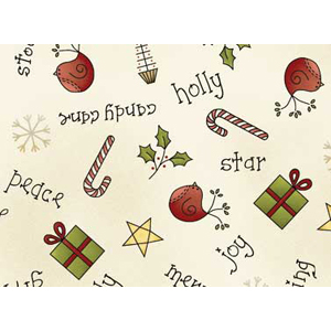 All Things Christmas - Christmas Scatter on Cream Fat 1/4