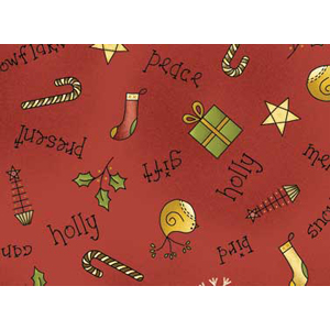 All Things Christmas - Christmas Scatter on Red Fat 1/4
