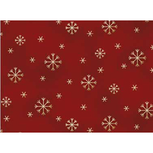 All Things Christmas - Snowflakes on Dark Red Fabric