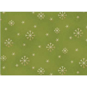 All Things Christmas - Snowflakes on Green Fat 1/4