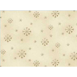 All Things Christmas - Snowflakes on Cream Fabric
