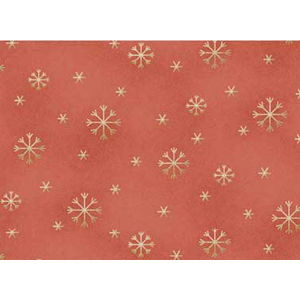 All Things Christmas - Snowflakes on Mid Red Fabric