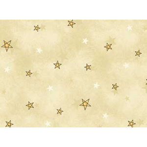 All Things Christmas - Stars on Cream Fabric
