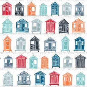 Marine - Beach Huts Fabric