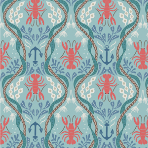 Harbourside Lobsters Fabric