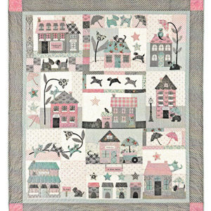 Raining Cats & Dogs block of the month pattern